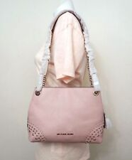 Michael Kors Jet Set Medium Chain Studded Leather Shoulder in Pastel Pink
