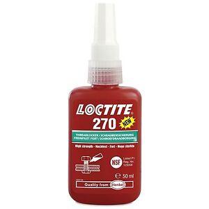 Loctite 270 Schraubensicherung 50ml Hochfest Grün Henkel