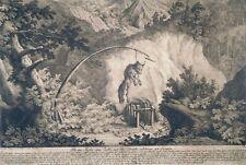 Radierung, Fuchsfalle, J.E. Ridinger, 1750, Thienemann 88, Fangarten