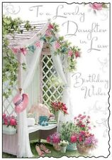 "Jonny Javelin Daughter-in-Law Birthday Card - Garden Canopy & Bunting 9"" x 6.25"""