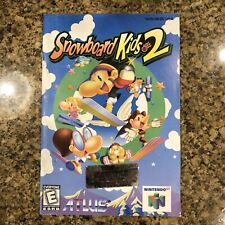 Snowboard Kids 2 - Instruction Booklet Manual Only (Nintendo 64, N64) Authentic