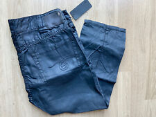 R13 Asymmetric Capri Jeans Dark Grey Mid Rise 31