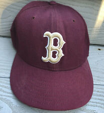 Boston Red Sox Baseball Hat Fitted 7 Red Maroon New Era MLB Baseball Plain Logo