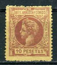 ELOBEY 1905. 10 PESETAS. CAT. $1000. MH*