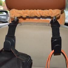 2pcs Car Seat Back Headrest Hooks Hanger Holder Hook for Bag Purse Cloth Grocery