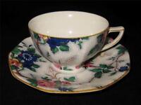 Crown Ducal ASCOT, Large Floral Chintz, Octagon Shape, Cup & Saucer Set