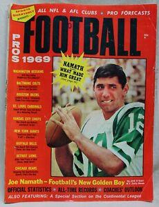 SPORTS QUARTERLY FOOTBALL PROS FOR 1969 MAGAZINE FALL 1969 VINTAGE JOE NAMETH