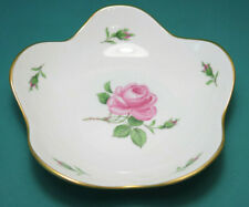 Meissen Teller oder Schale, vermutlich Dekor Rote Rose, ca. 15cm