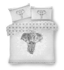 Elephant bedding duvet set grey & white quilt cover & pillow cases