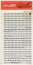 Decadry. Letras transferibles Nº 73 (16 pt) 4 mm. Lote de 6 hojas