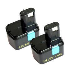 2 Pack 14.4V 1500mAh EB1414S Battery For Hitachi 315128 315129 EB 1412S EB 1424