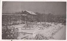 PARKGATE (Cheshire) : Winter 1940-Back garden of  Devon Bank,Parkgate -   RP