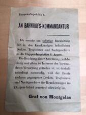 Affiche occupation allemande Première guerre 1914 1918