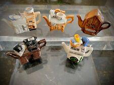 Paul Cardew Miniature Novelty Teapots X FIVE