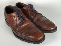 Allen Edmonds Aberdeen Leather Perfed Wingtip Rugged Oxfords Burnished 9D Rubber