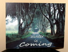 Game of thrones Winter is coming metal wall sign The Dark Hedges Co. Antrim sign