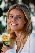 Gwyneth Paltrow Beautiful Smiling Holding Rose 11x17 Mini Poster