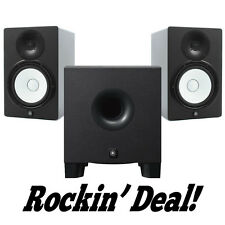 Yamaha HS8 Studio Monitor Speaker PAIR w/ HS8S Subwoofer HS-8 Hs-8s Sub Bundle