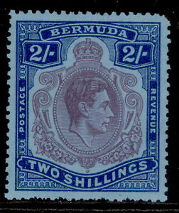 BERMUDA GVI SG116f, 2s reddish purple & blue/pale blue, LH MINT. Cat £19.