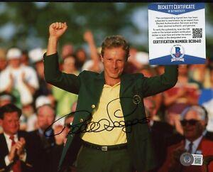 Bernhard Langer Golf  Signed 8x10 Photo AUTO Autograph Beckett BAS COA