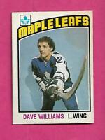 1976-77 OPC # 373 LEAFS DAVE TIGER WILLIAMS ROOKIE GOOD CARD (INV# D7941)
