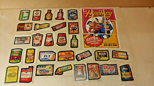 Vintage Topps Wacky Packages 9th Series 1974 Complete Set with Puzzle