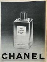 PUBLICITÉ DE PRESSE 1958 EAU DE COLOGNE CHANEL POUR MONSIEUR - PARIS