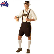 Mens Lederhosen Beer Costume German Octoberfest Gentleman Fancy Dress