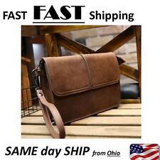 2017 New Men's Leather Handbag Briefcase Messenger Bags wallet brown natural
