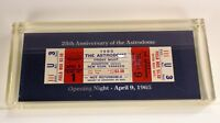 25TH ANNIVERSARY OF THE ASTRODOME OPENING NIGHT 1965 TICKET  #1465