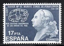 España estampillada sin montar o nunca montada 1985 SG2853 200th aniversario de la muerte de Xavier Maria de manive e idiaguez