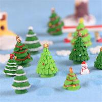 Christmas Xmas Tree Miniature Figurine Dollhouse Garden Decor Micro Landscape 3C