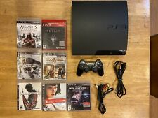 PlayStation 3 - Slim 160GB and Game Bundle Skyrim, God Of War, Assassins Creed
