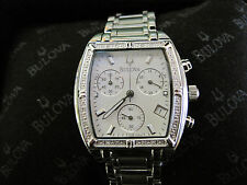 BOX 025 ladys 20 diamond BULOVA chronograph  watch bracelet