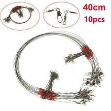 10X Stainless Steel Trace Wire Leader Fishing Line Leaders With Snap & Swivel !!