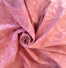 "10 Meters Prestigious Pink Heavy Jacquard Brocade 60"" Wide Curtain Fabric"
