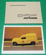 FOURGONNETTE RENAULT 4 ECOLE BON-POINT MINIATURE MAJORETTE 1970 70's