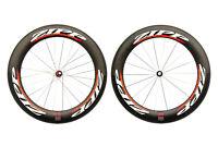 Zipp 808 Road Bike Wheelset 700c Carbon Tubular Shimano 10 Speed