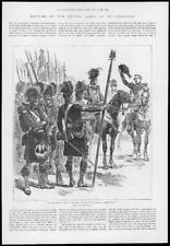 1895 Antique Print - SPAIN Corunna Sir John Moore British Army Highlanders (180)