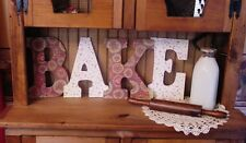 """""""BAKE"""" Decorated 9"""" Multi-Colored Letters  - bk129"""