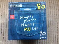 "Pack de 10 MiniDisc Maxell ""Happy Music"" de 80min (Made In japan)"