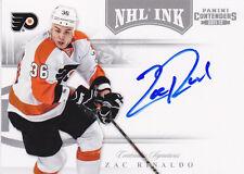 11-12 Panini Contenders Zac Rinaldo Auto NHL Ink Autograph 2011 Flyers