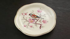 ROYAL WORCESTER PALISSY PIN TRAY / BUTTER DISH WITH PINK BLOSSOM AND A BIRD