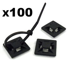 100x Self Adhesive Stick-on Mounts for Cable Ties / Routing Looms, Wire & Cable