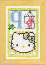 Vervaco  0149555  Alphabet © Hello Kitty - Lettre Q  Kit  Point de Croix  Compté