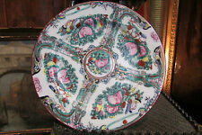 ancienne assiette en porcelaine chinois chinese chine canton signée