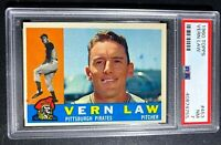 1960 CY YOUNG WINNER, VERN LAW, PITTSBURGH PIRATES, TOPPS #453, PSA NM, GRADE 7