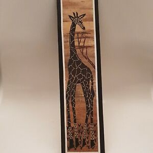 African Giraffe Picture Wall Art Made From Banana Leaves (B8)