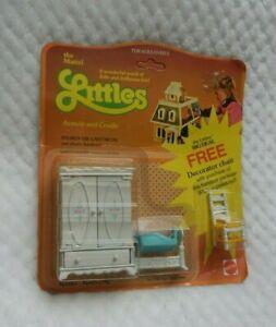 The Mattel Littles Diecast Armoir & Cradle Dollhouse Furniture NIP w/FREE Chair