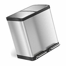 iTouchless PC60RSS Stainless Steel 16 Gallon Dual Step Trash Can